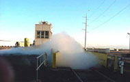 Uninterrupted production of water mist is the key to the successful functioning of the dust suppression system